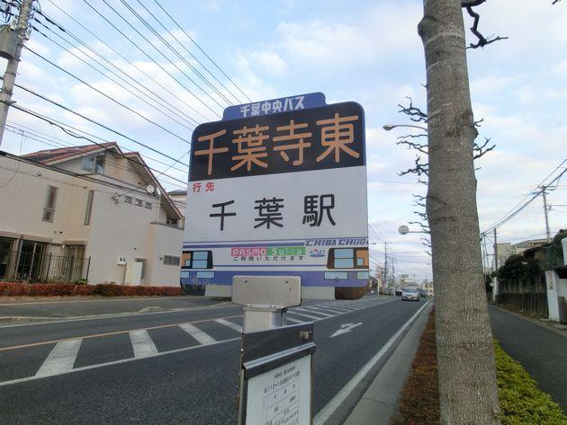 千葉駅よりバスが出ており、15分ほどで到着します