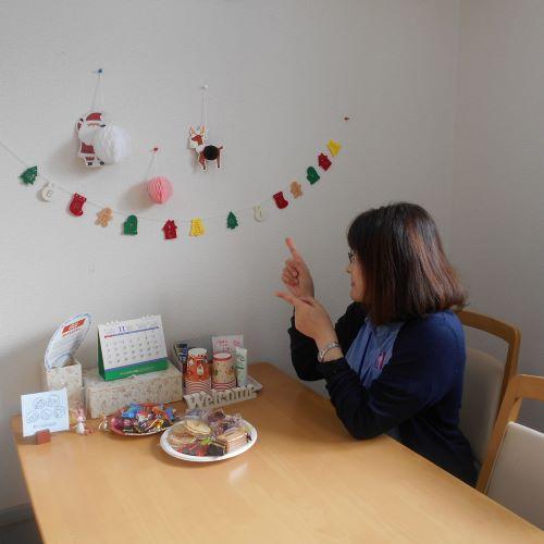 事業所内にクリスマスコーナーを開設!!仕事の合間にゆっくり休んでいただいております。