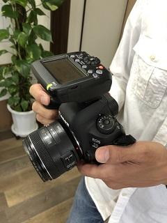 カメラマンさんのカメラです。